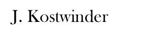 J Kostwinder